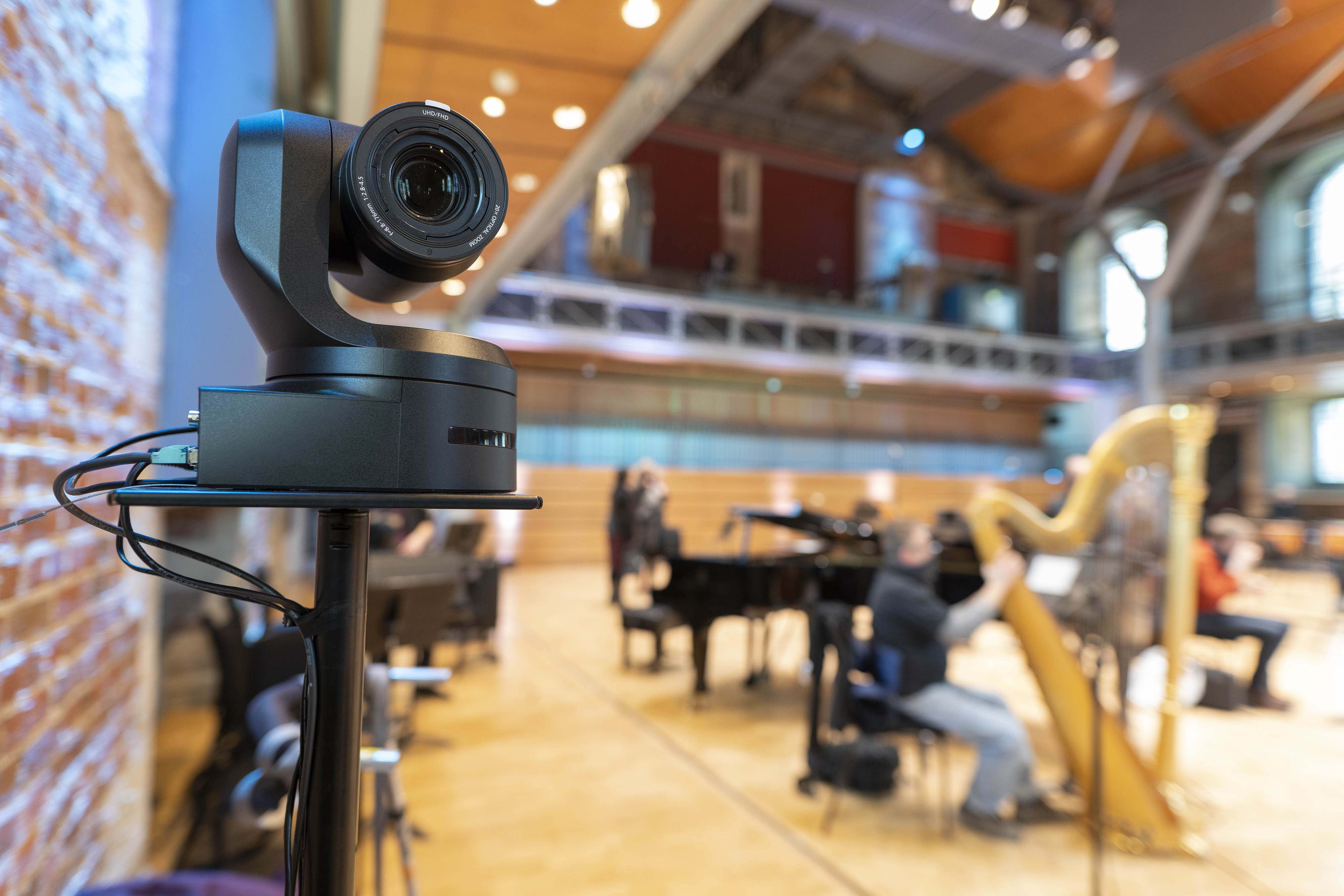 Panasonic Remote PTZ 4K cameras used to remotely capture London Symphony Orchestra performances at LSO St Luke's, London. (Also